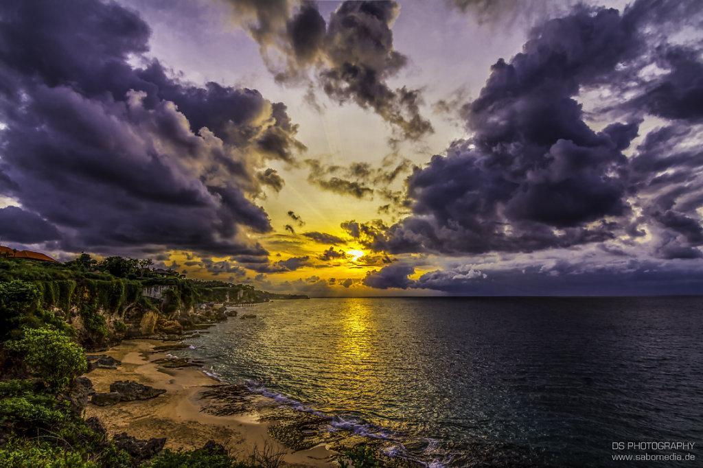 sunset at badung